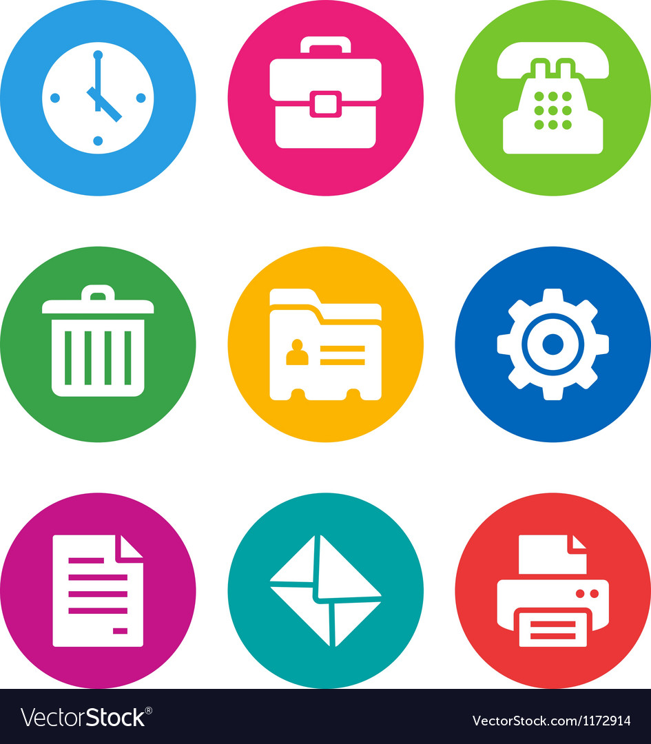 Color office icons