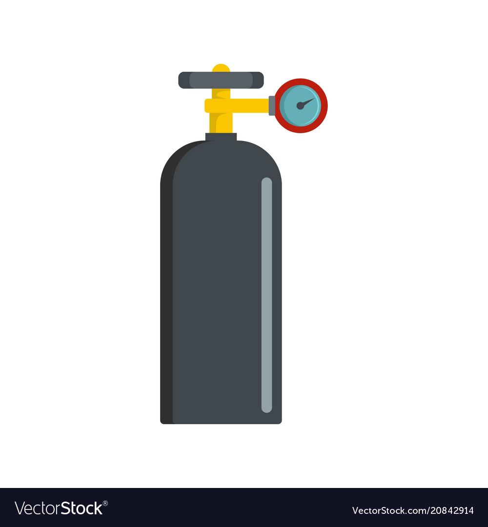 Gas balloon icon flat style