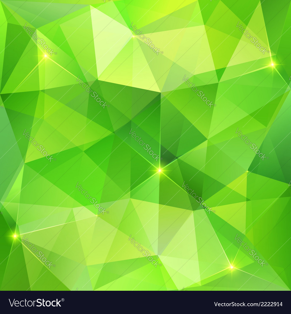 Green Abstract Crystal Background