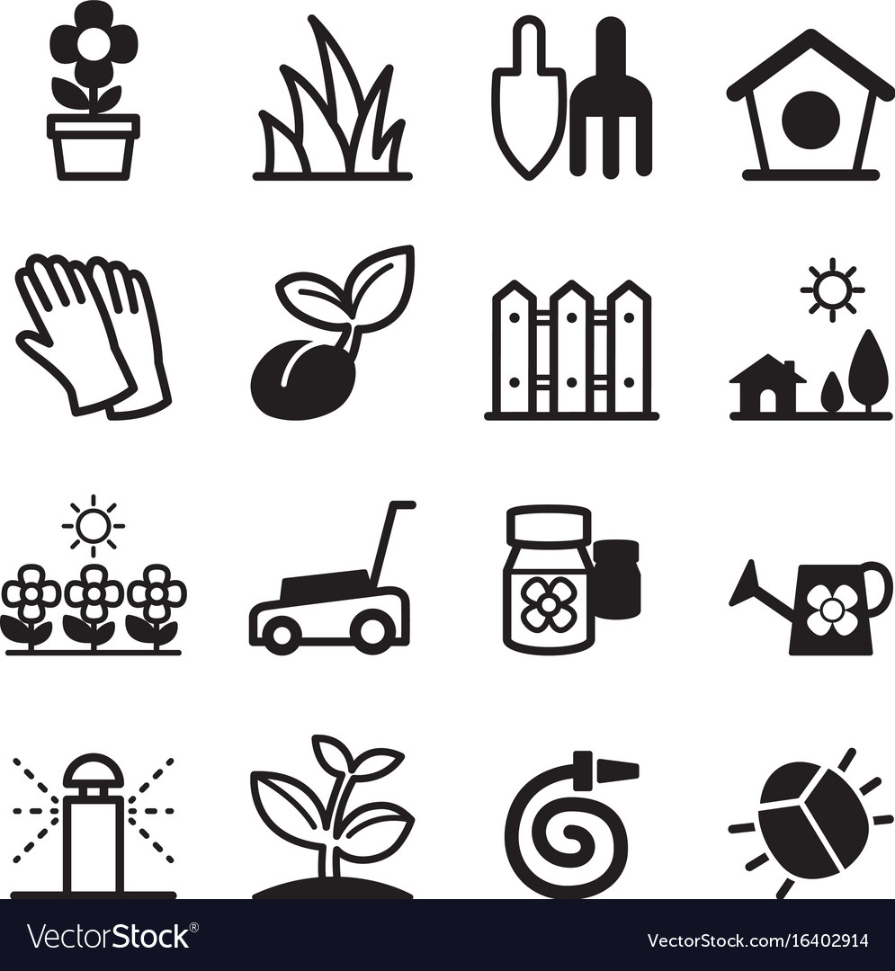 Lawn icons vector image