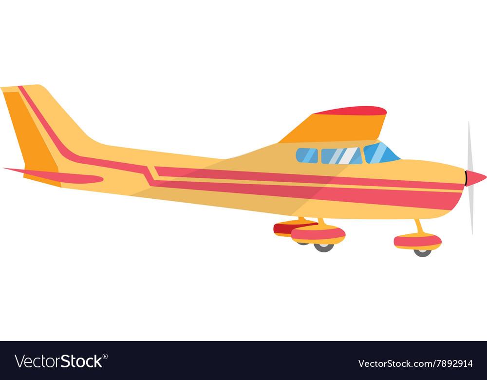 Light aircraft single propeller vector image