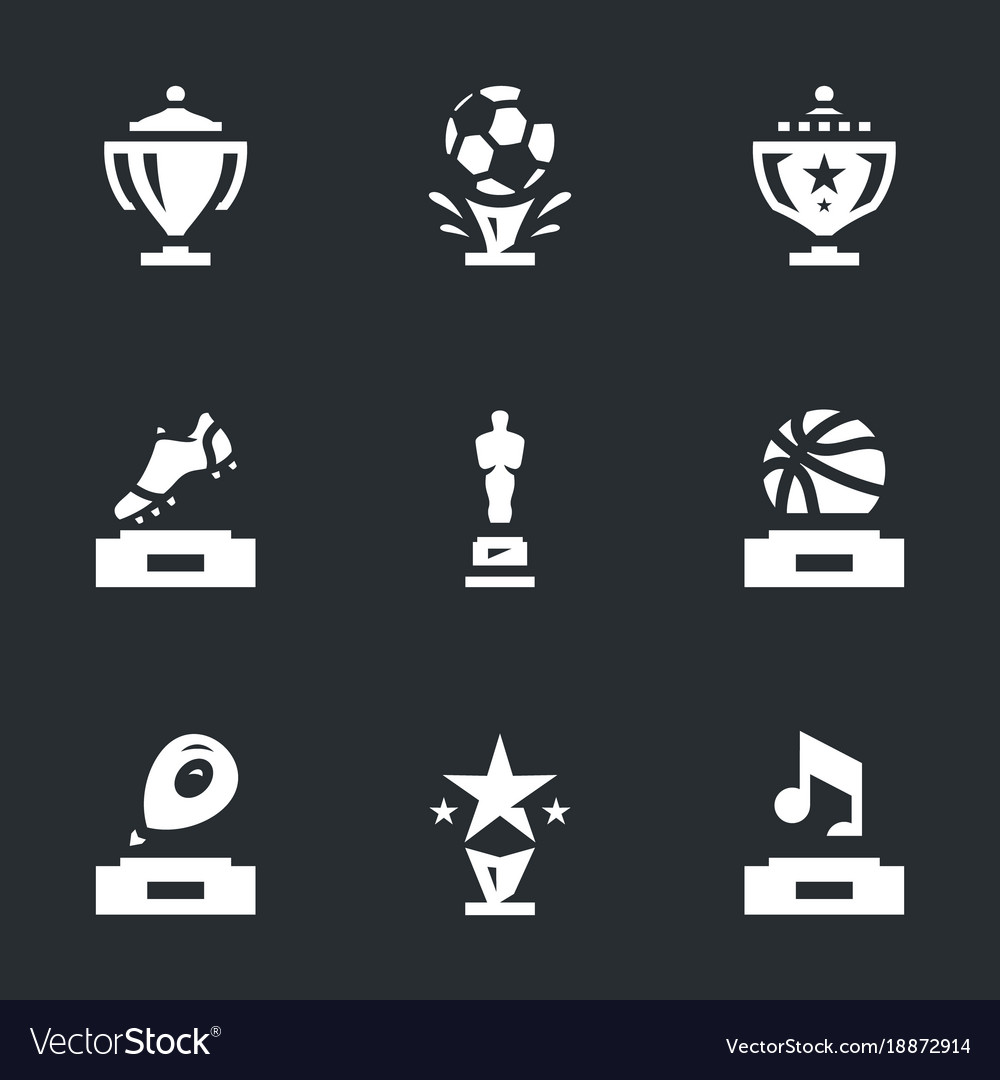 Set of awards icons vector image