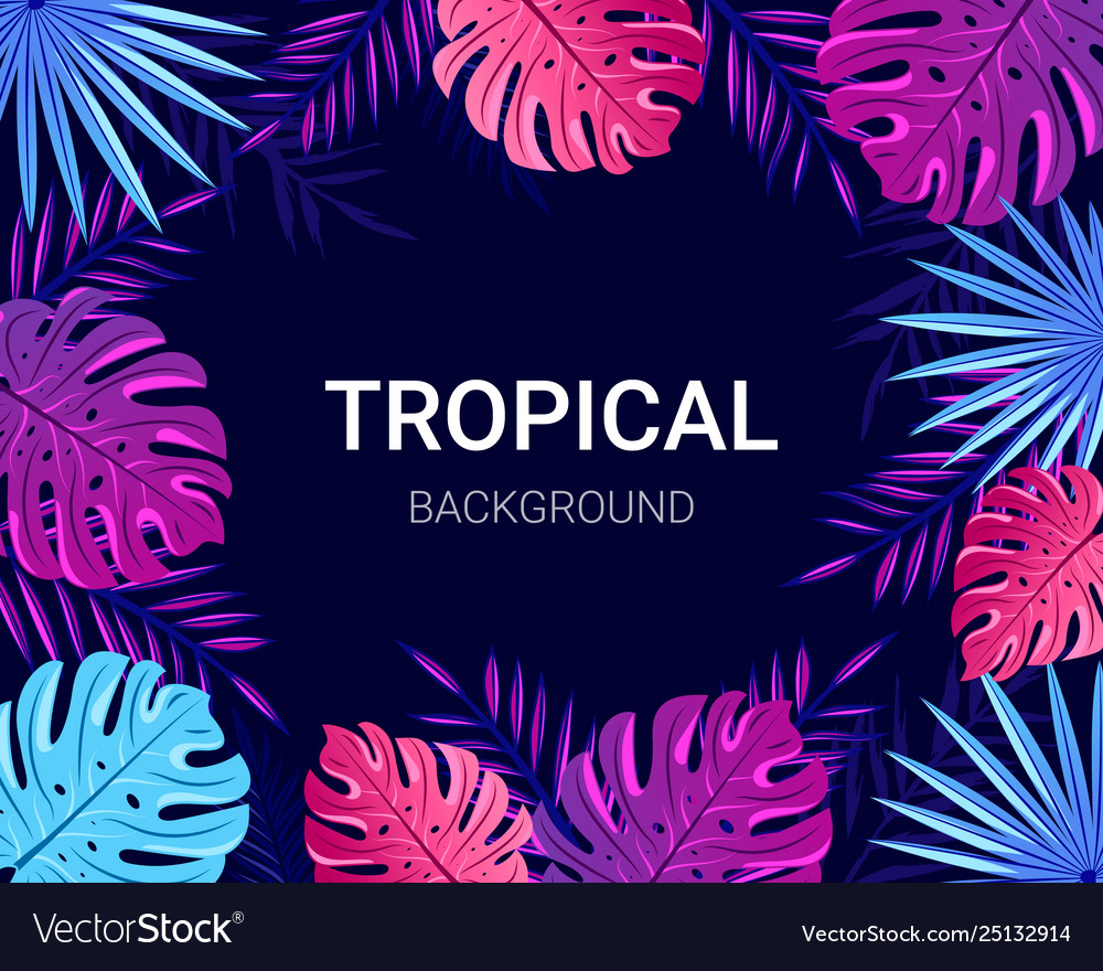 Summer tropical design for banner poster card
