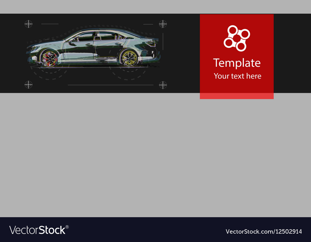 Web template for car service Design graphic vector image