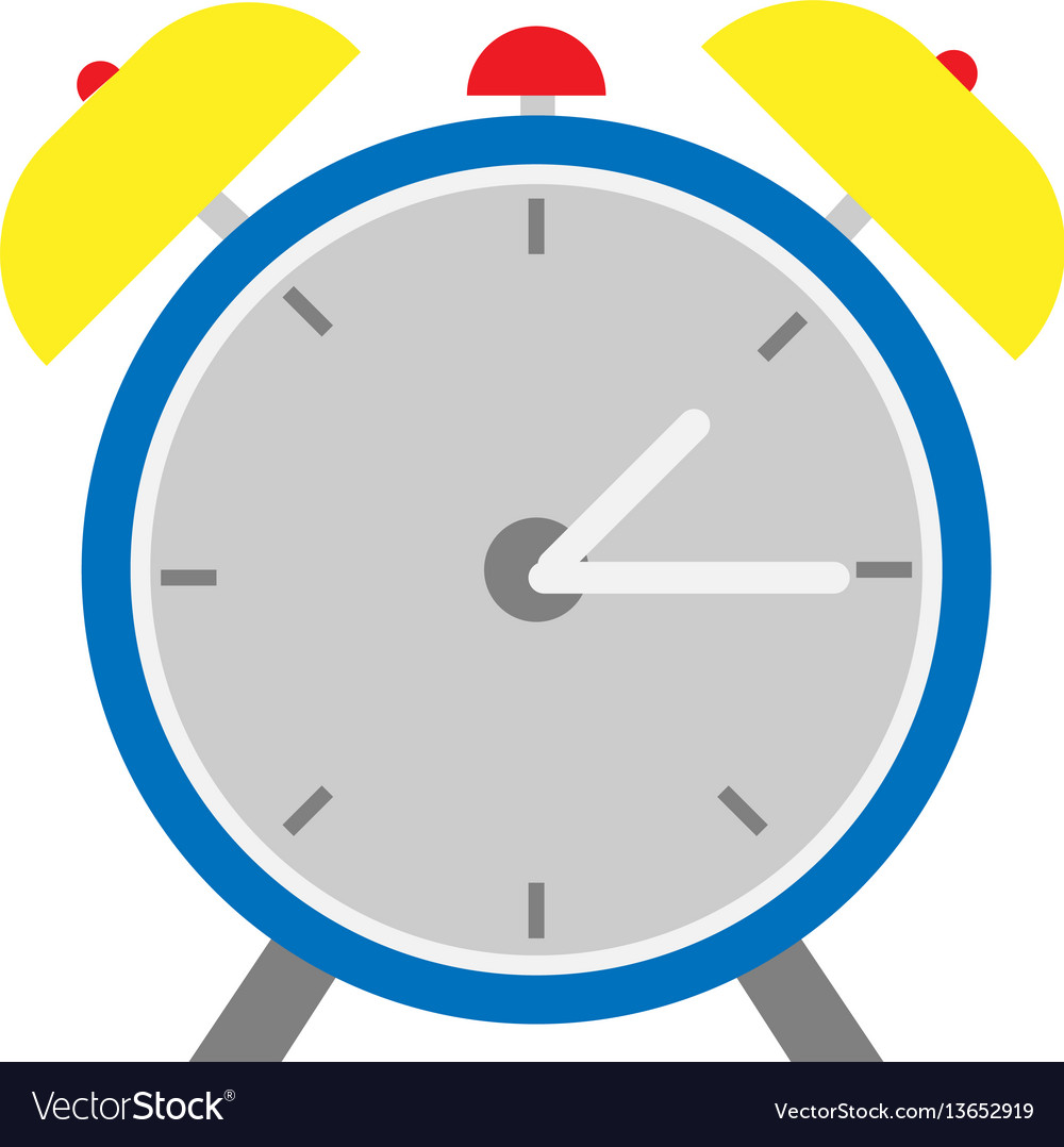 Alarm clock flat design style