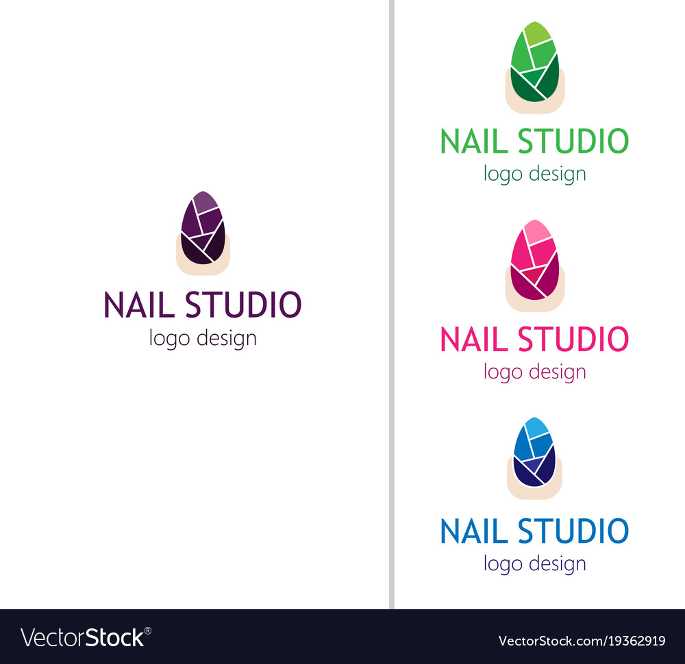 Fashion Nails Studio Logo For The Beauty Salon Vector Image