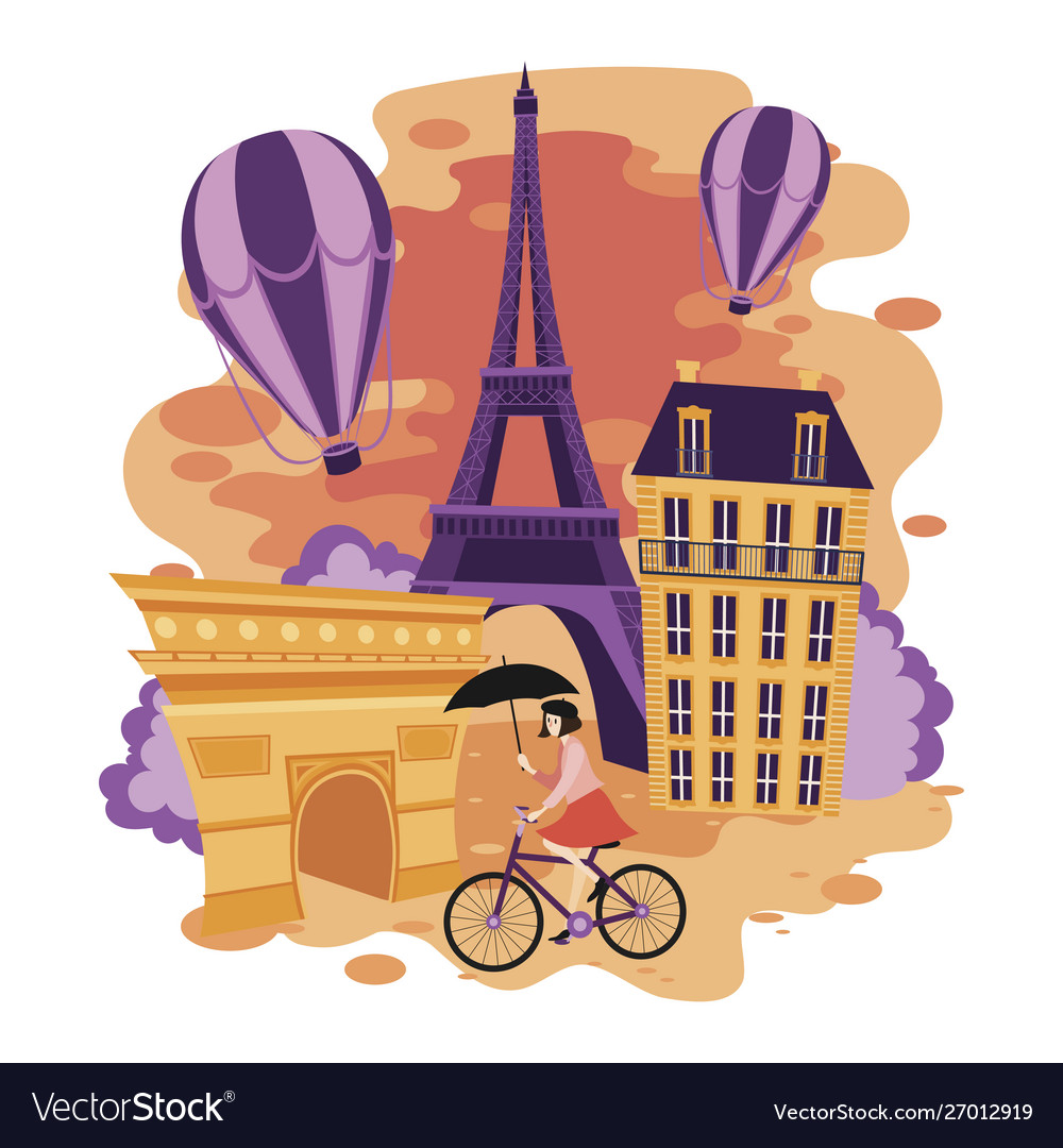 Landscape paris cartoon the
