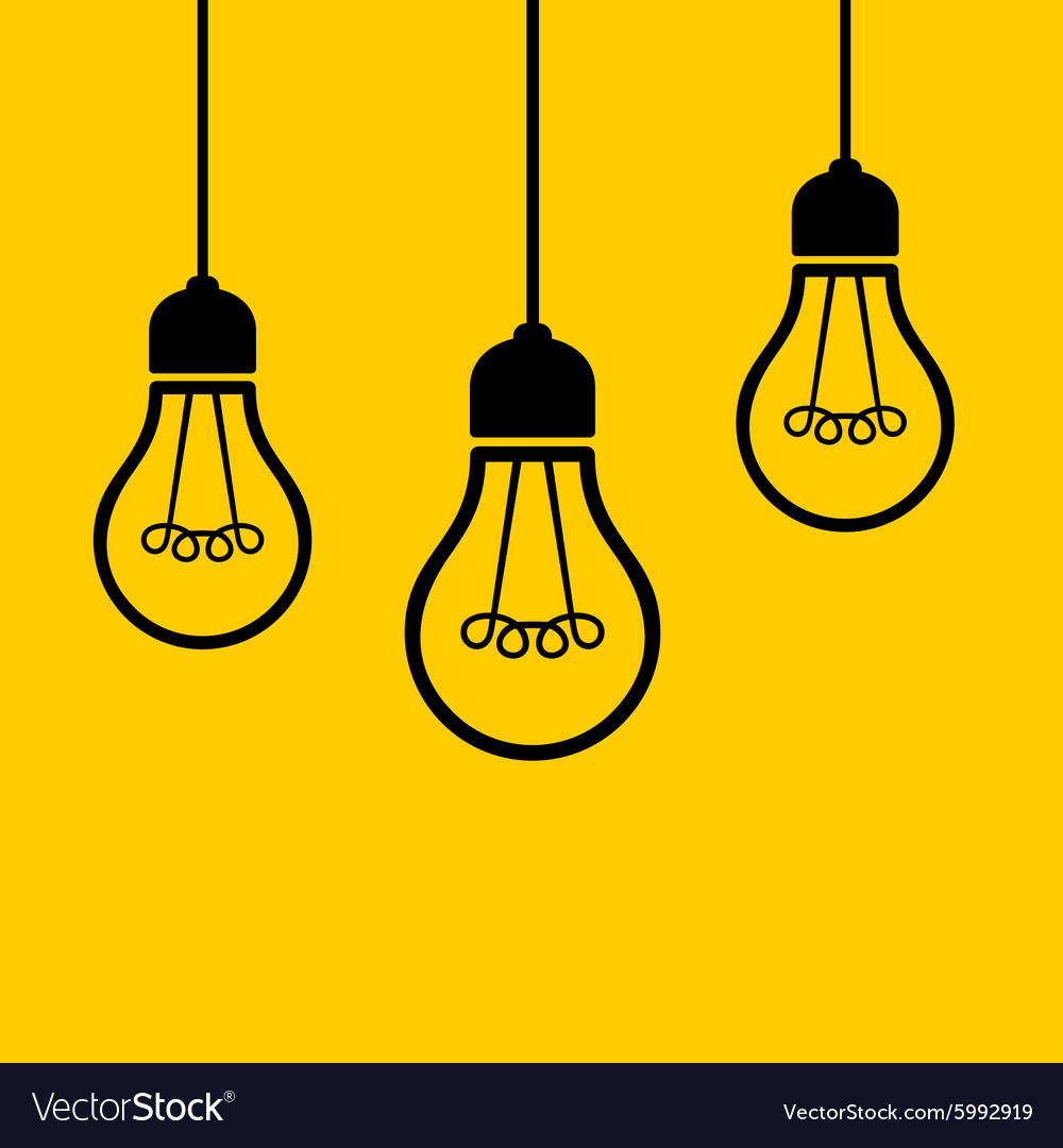 Black Ceiling Lamp Royalty Free Vector Image: Light Bulbs Hanging From The Ceiling Royalty Free Vector