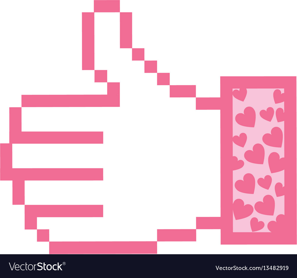 Pink all good hand icon