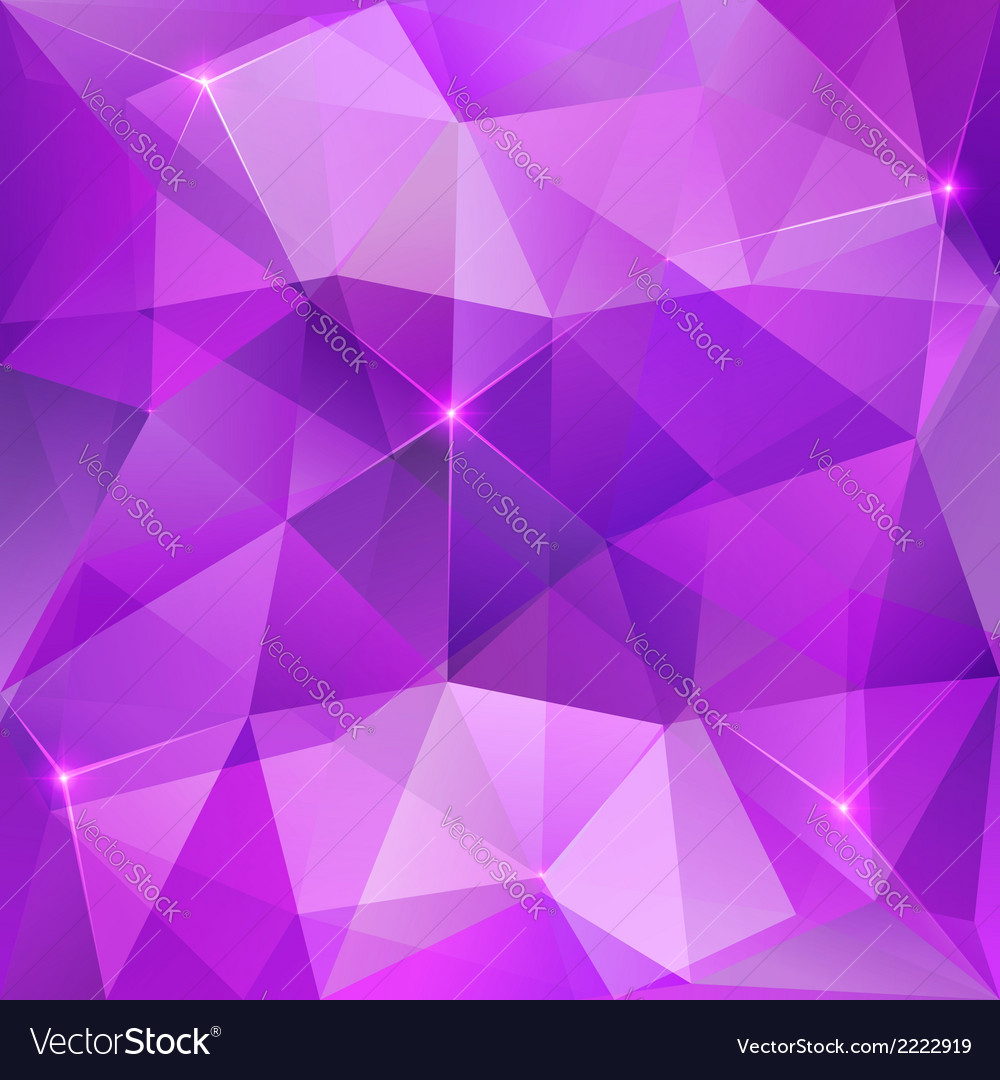 Violet Crystal Abstract Background Royalty Free Vector Image