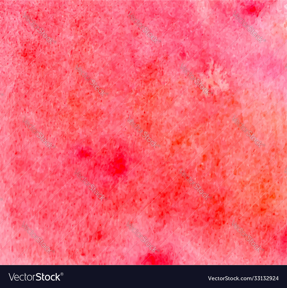 Abstract bright orange pink and red watercolor