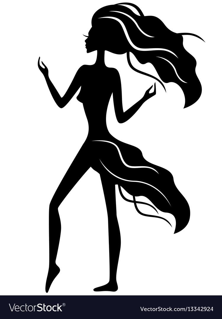 Abstract slender girl silhouette