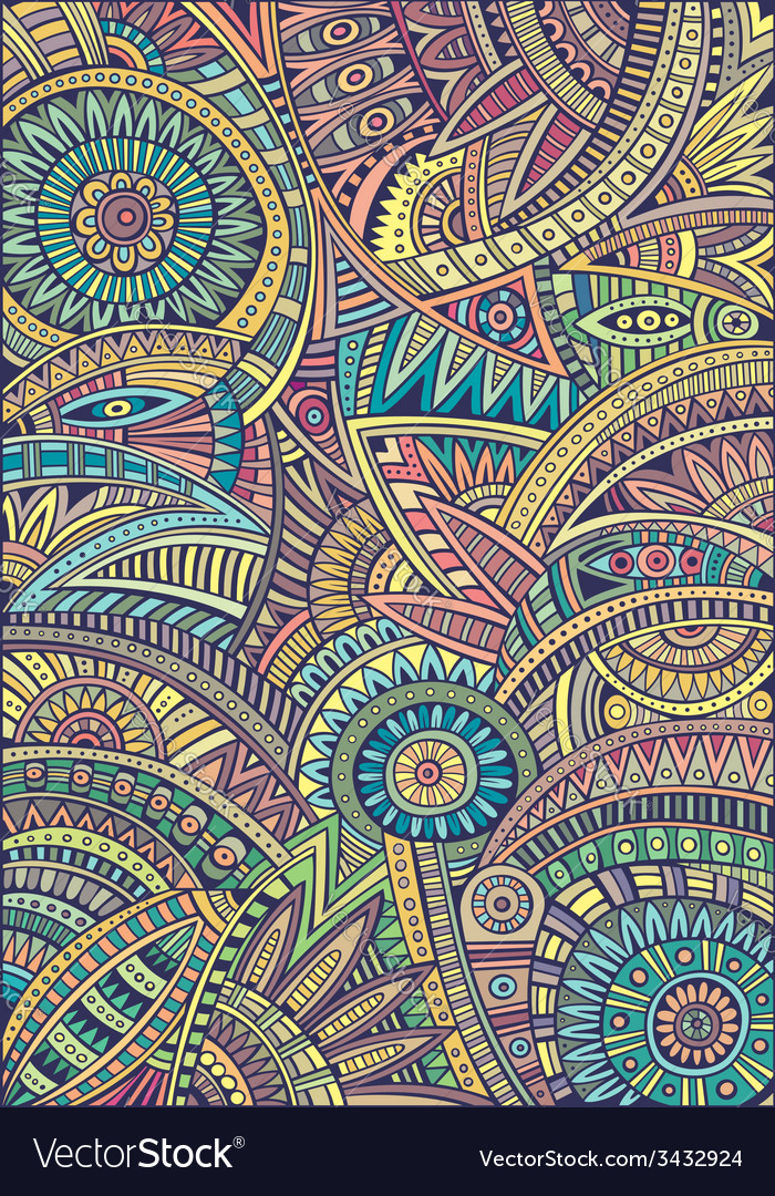 Abstract tribal ethnic background pattern