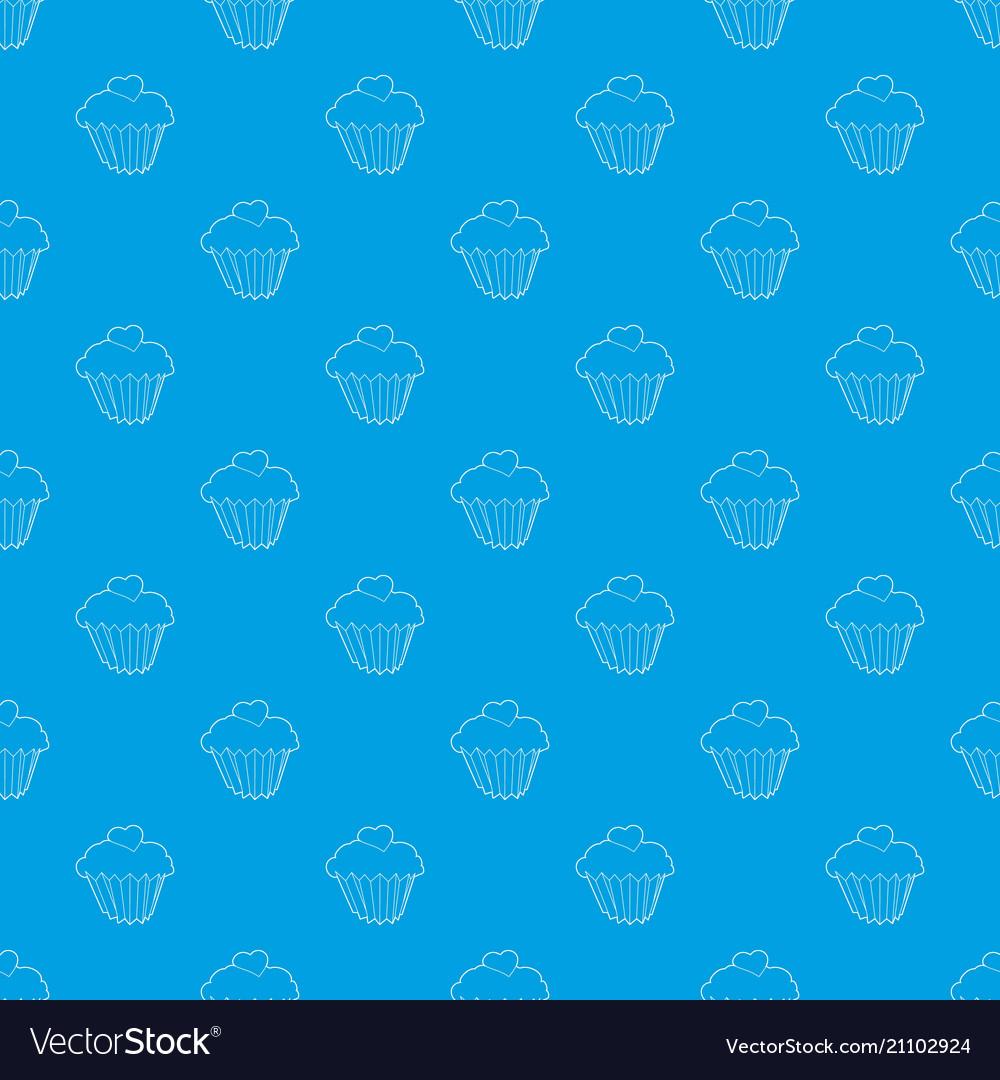 Cupcake pattern seamless blue