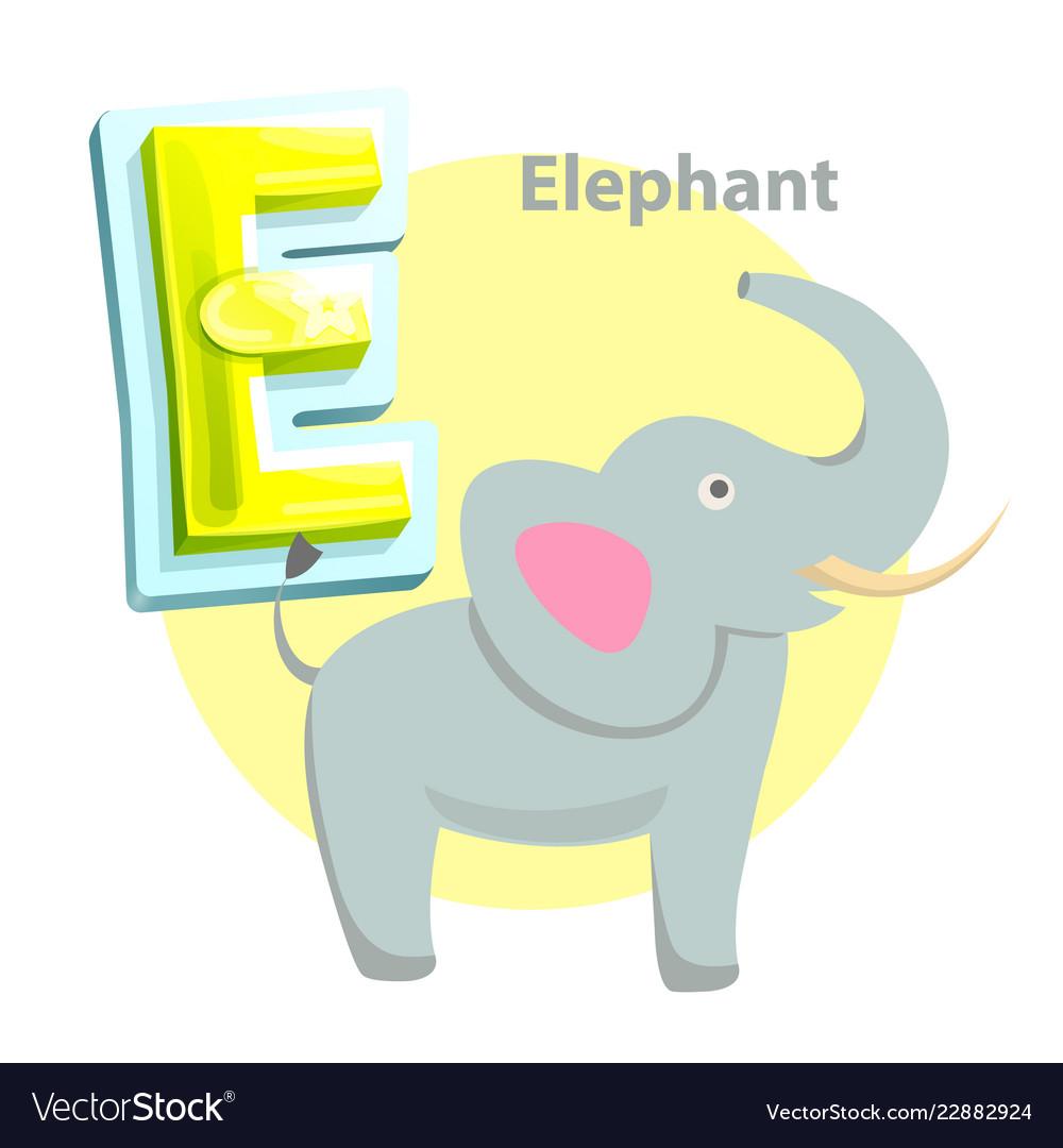 Elephant children alphabet