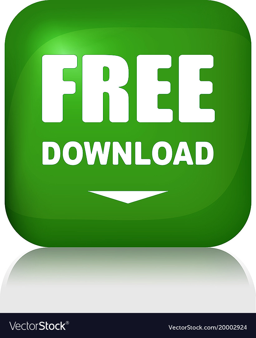Free download button with shadow royalty free vector image.