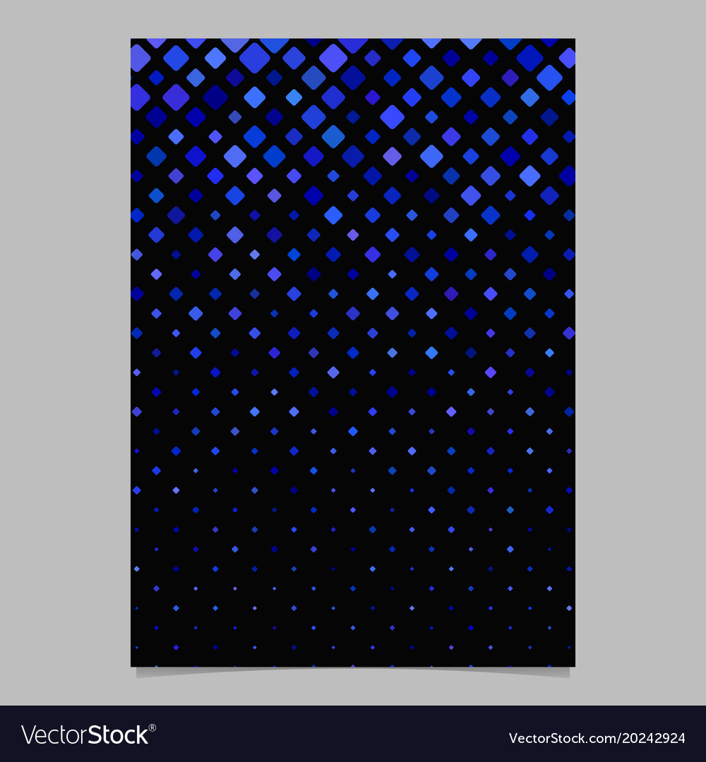 Square pattern brochure template - tiled mosaic vector image