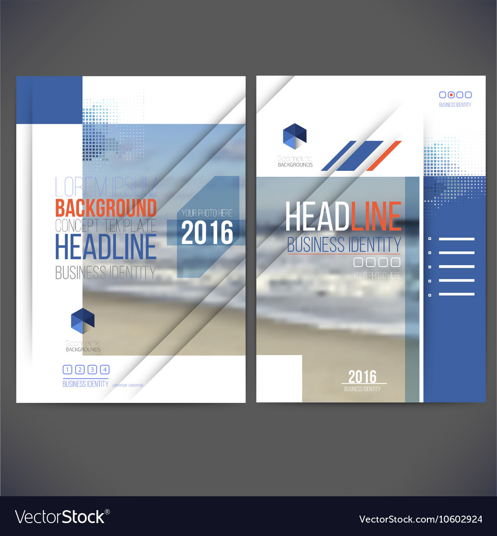 Template design annual report 2017 layout with