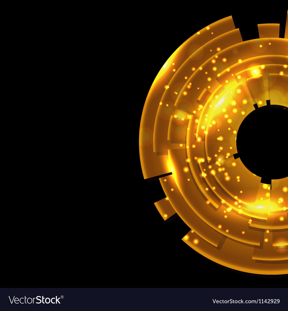 Abstract Gold Background With Black Copy Space