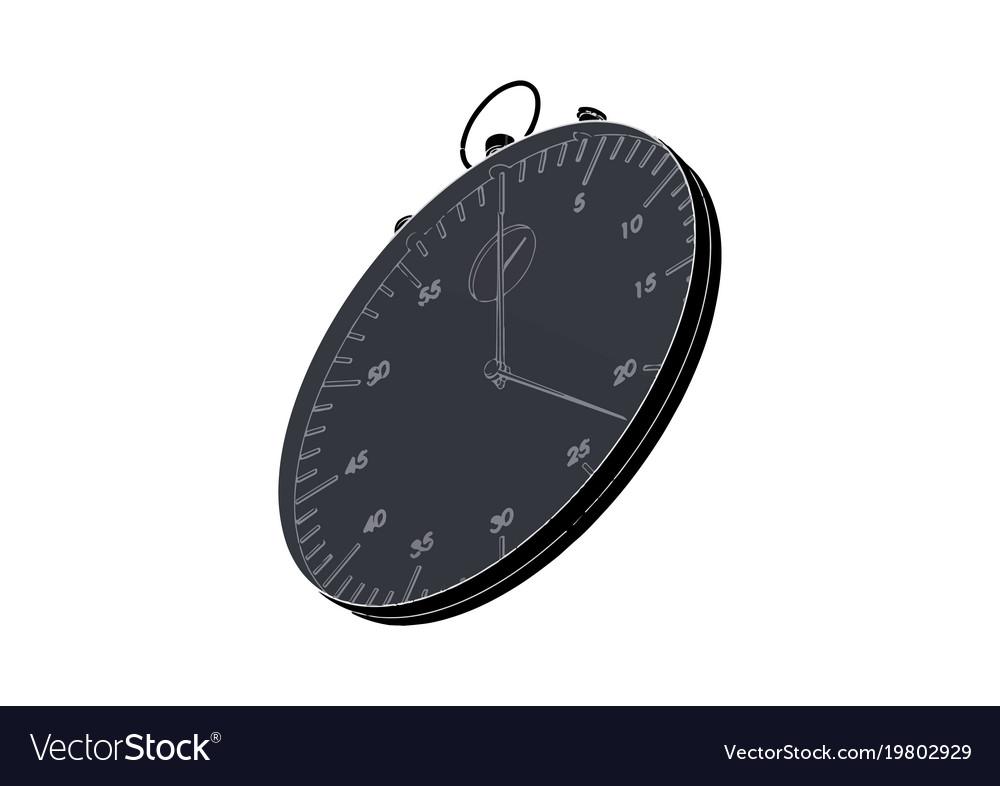 Dark stopwatch on white
