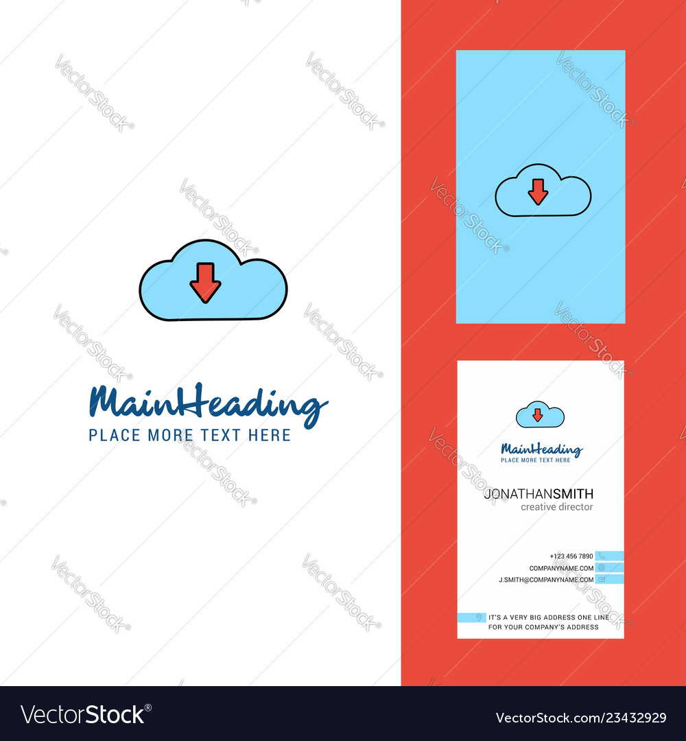 Downloading creative logo and business card