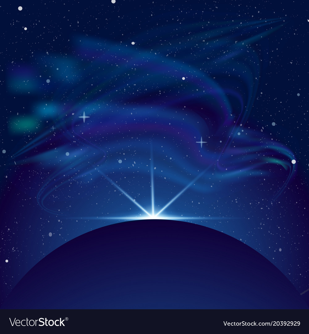 Eclipse planet in space in