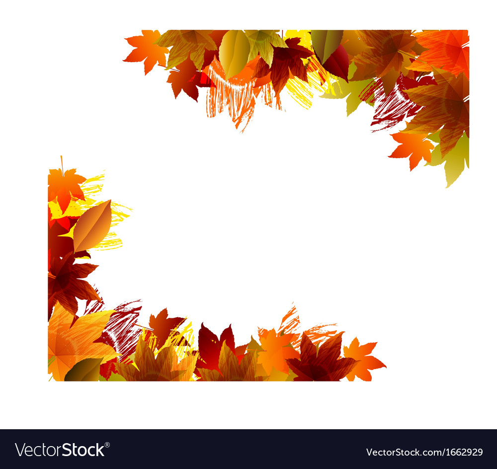 fall background royalty free vector image vectorstock