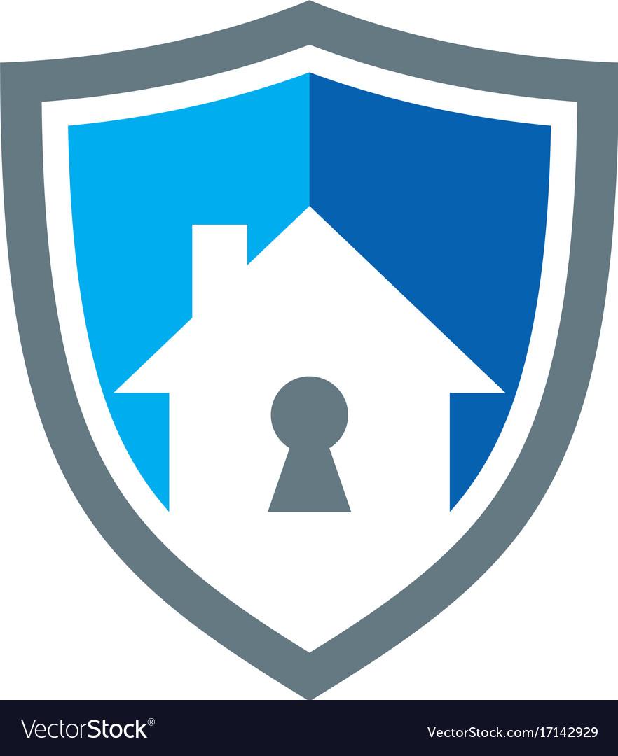 Secure house shield logo