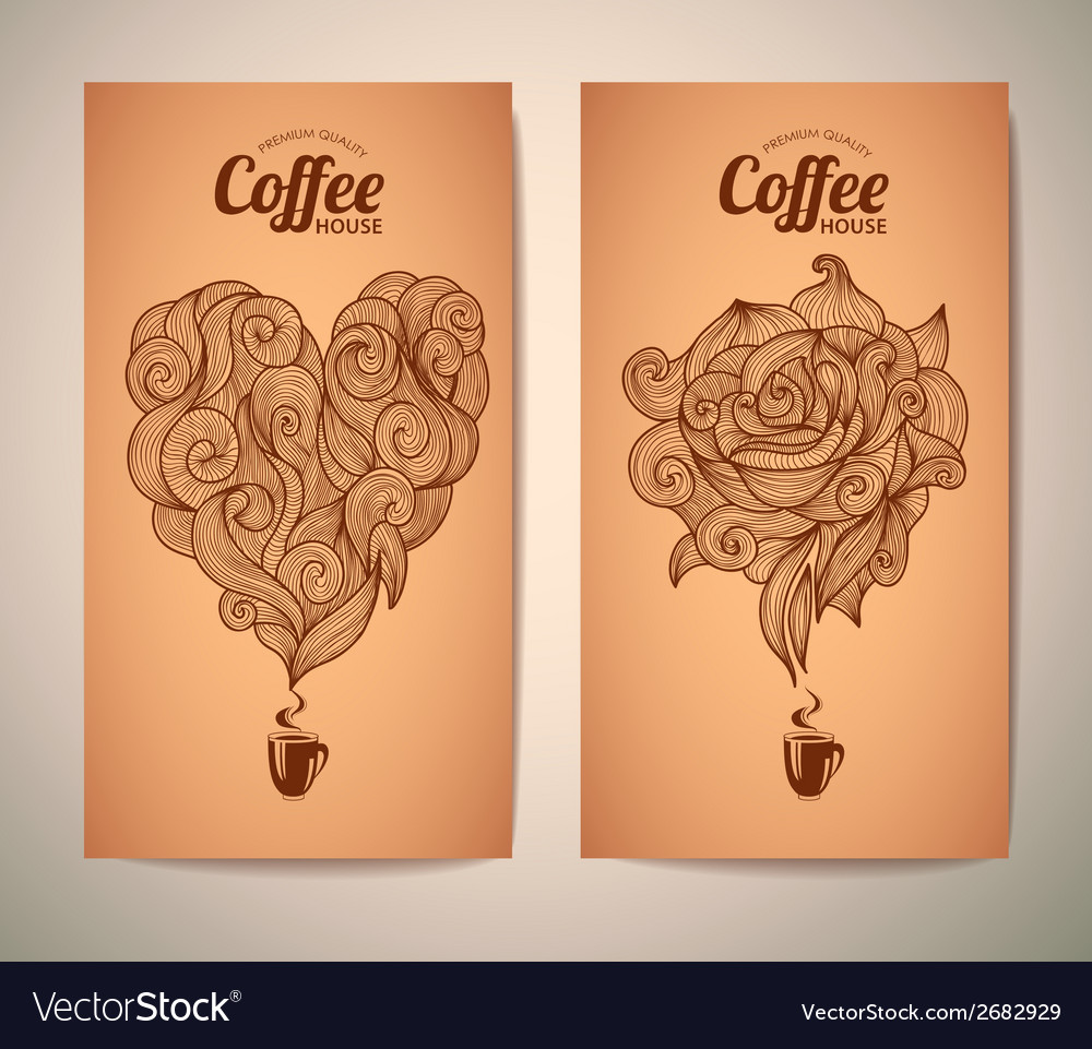 Set of coffee concept design