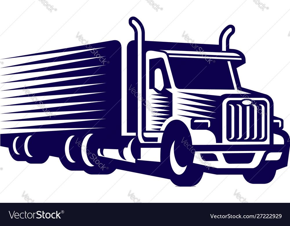 Truck logo design template