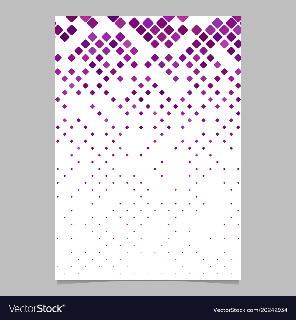 Abstractal diagonal square pattern brochure