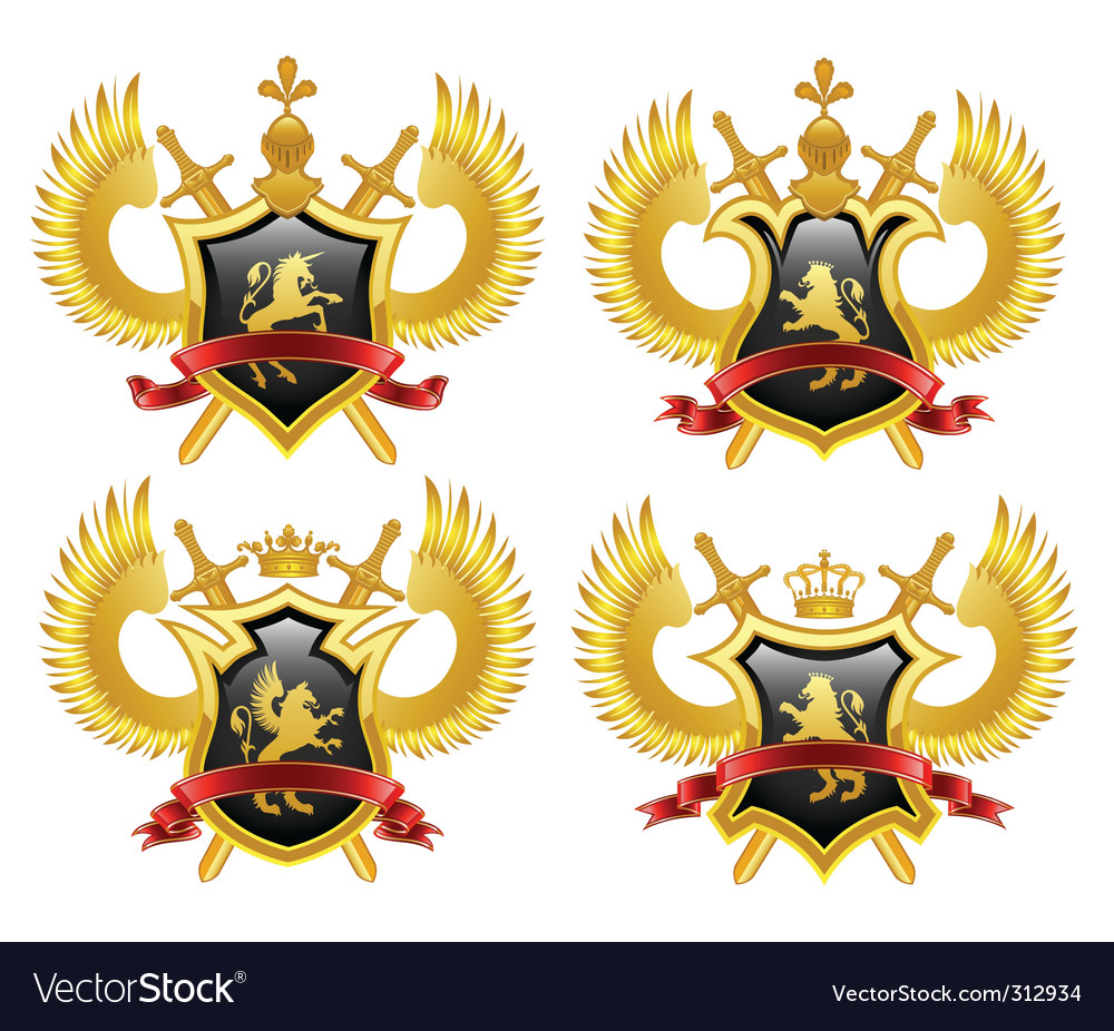 Coat of arms shield vector image