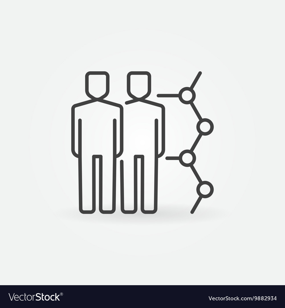 Human cloning linear icon vector image