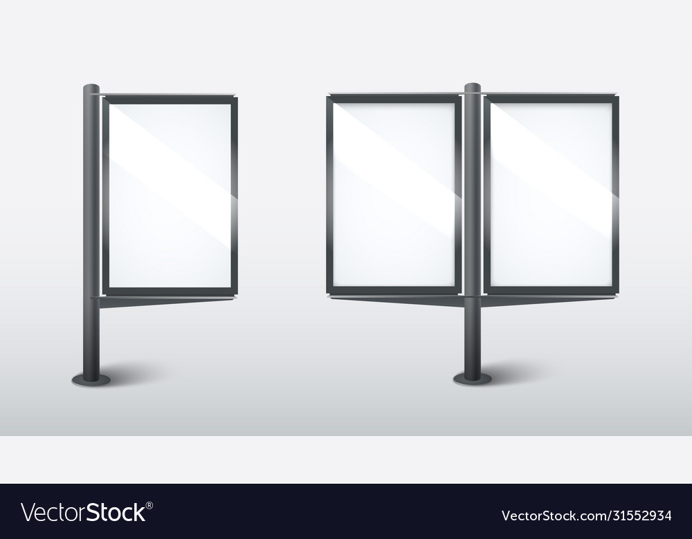 Realistic street light box template on white