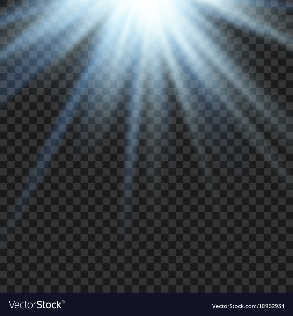 Sun light lens blue flare template