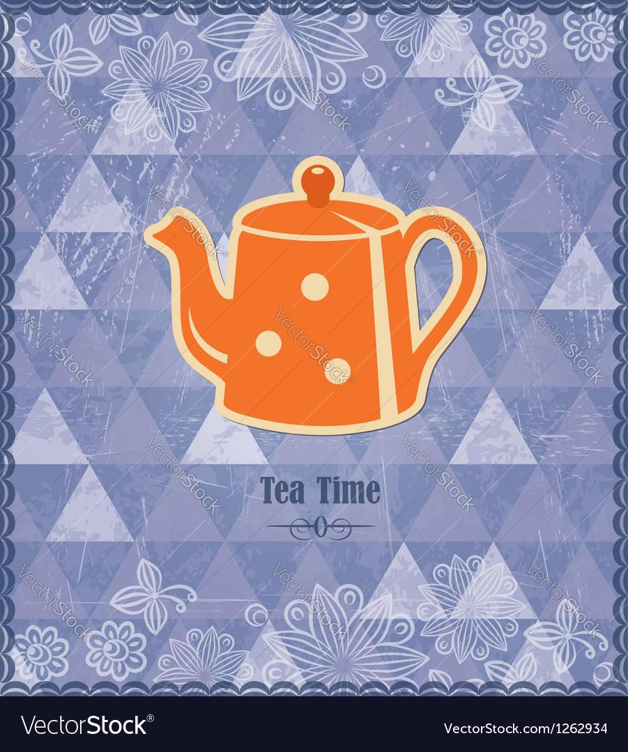 Tea time vintage pattern