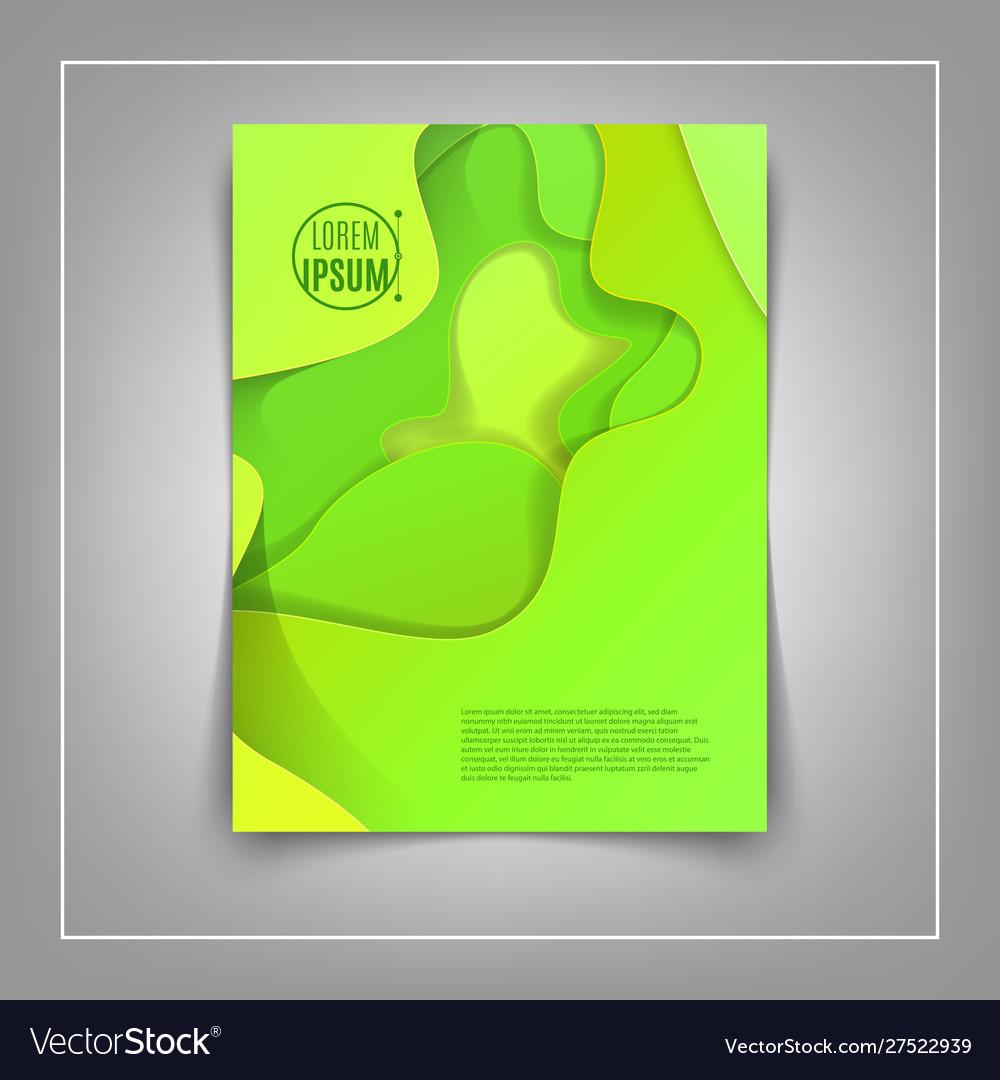 A4 abstract color 3d paper art