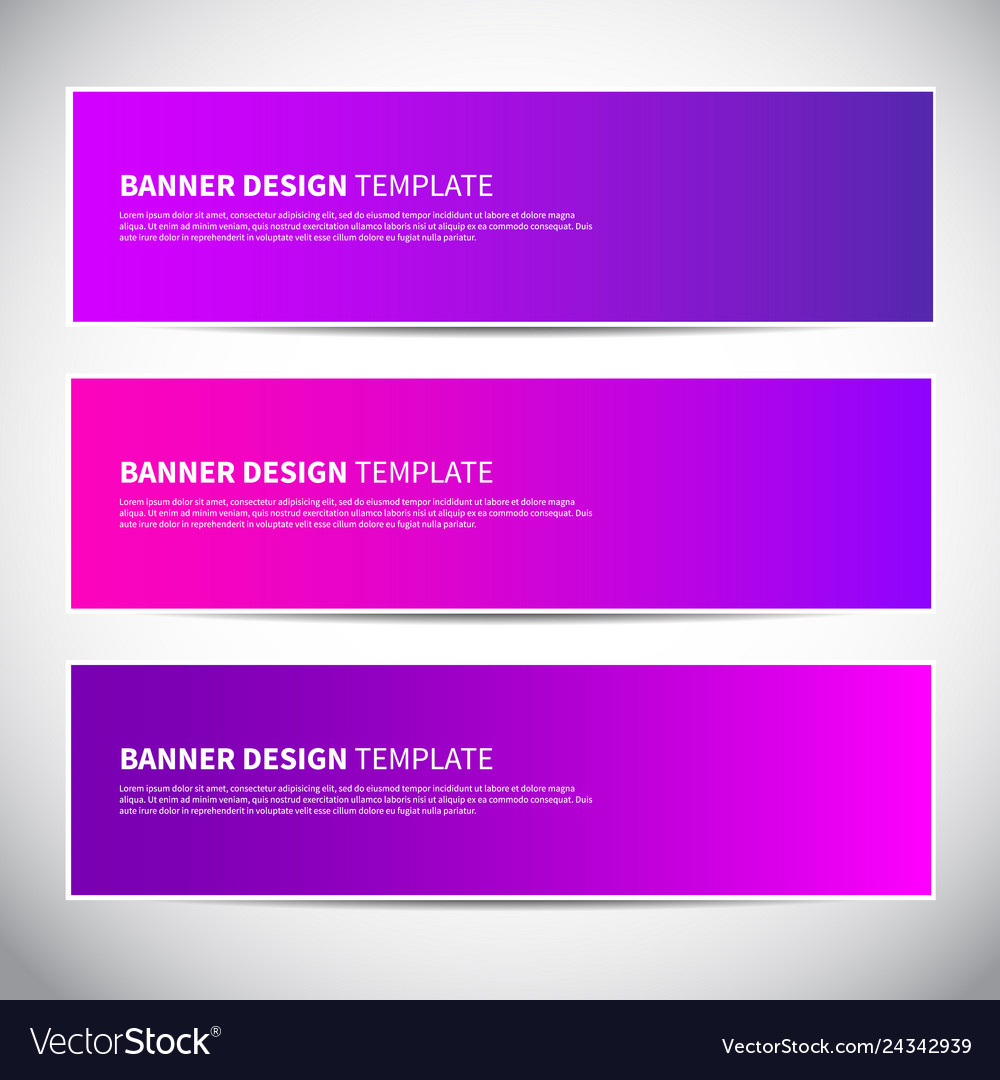 Banners or headers with trendy bright pink and