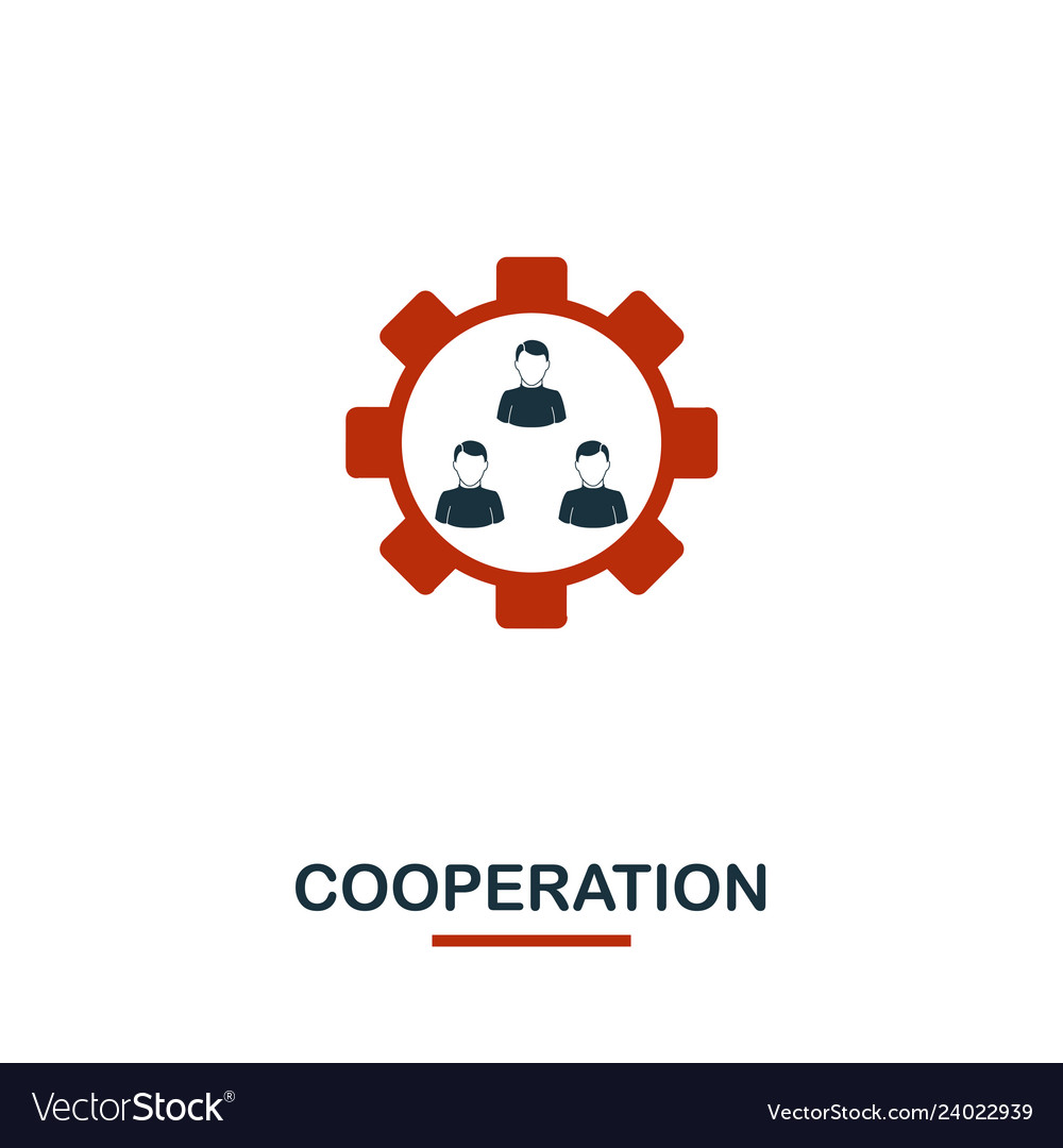 Cooperation icon premium style design from