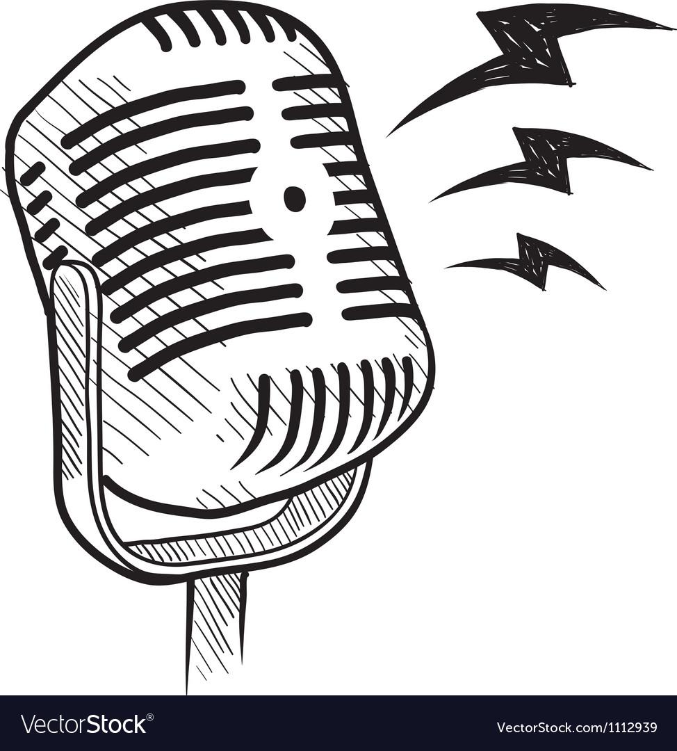 Doodle microphone radio