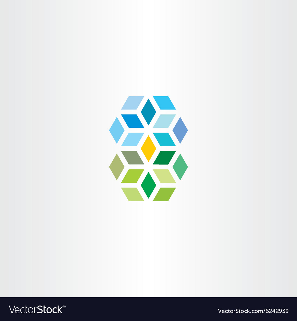 Geometric square cube abstract logo