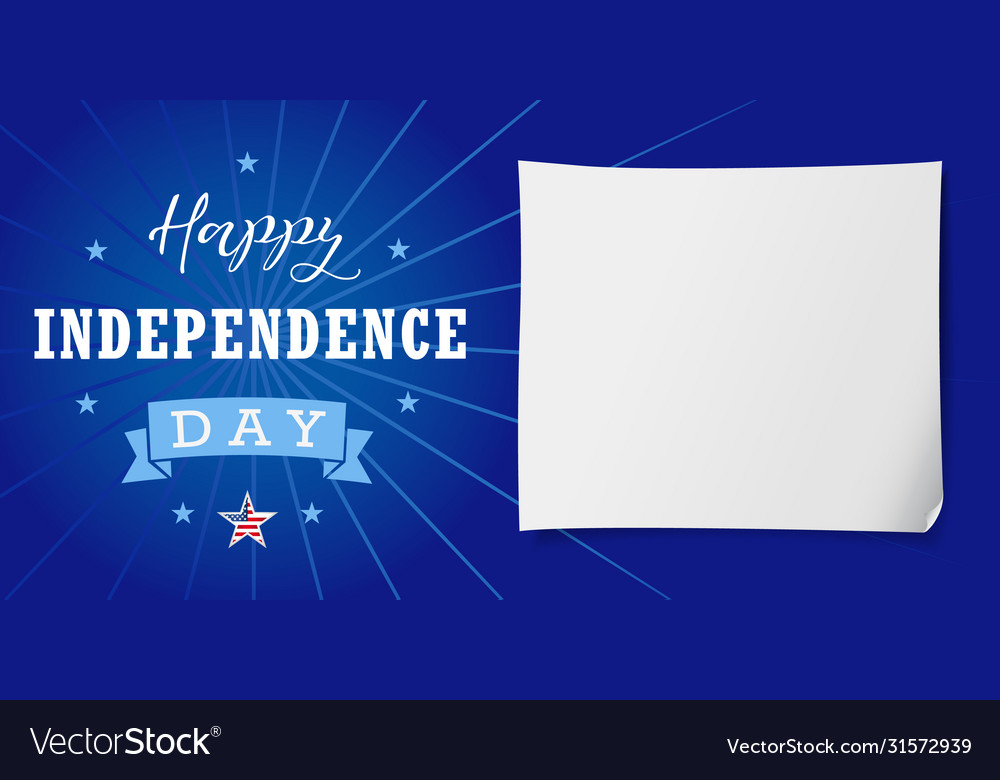 Happy independence day usa lettering banner
