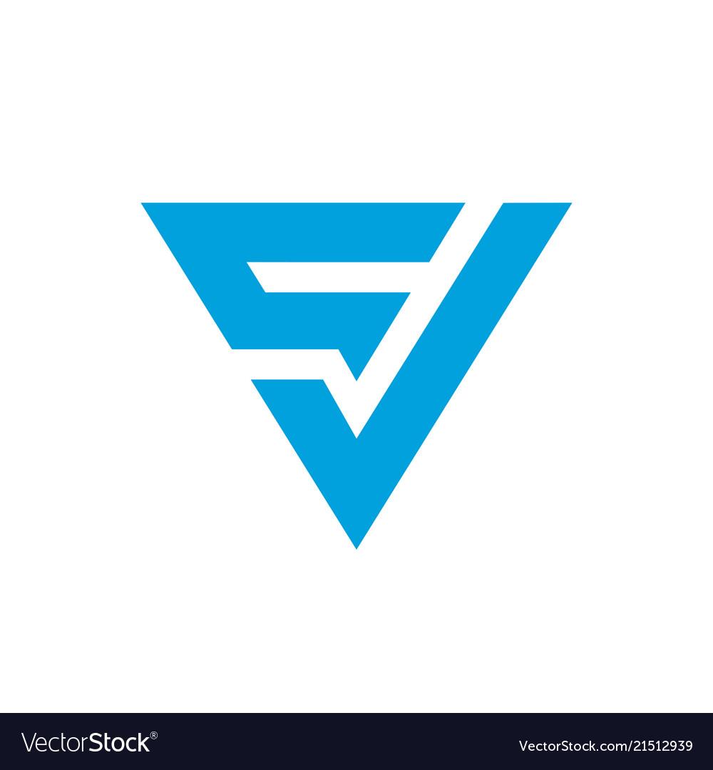 Initial cv letter logo icon