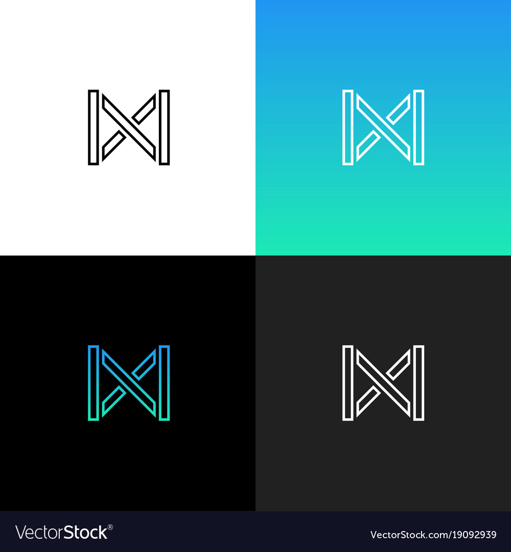 Linear abstract letter m logo