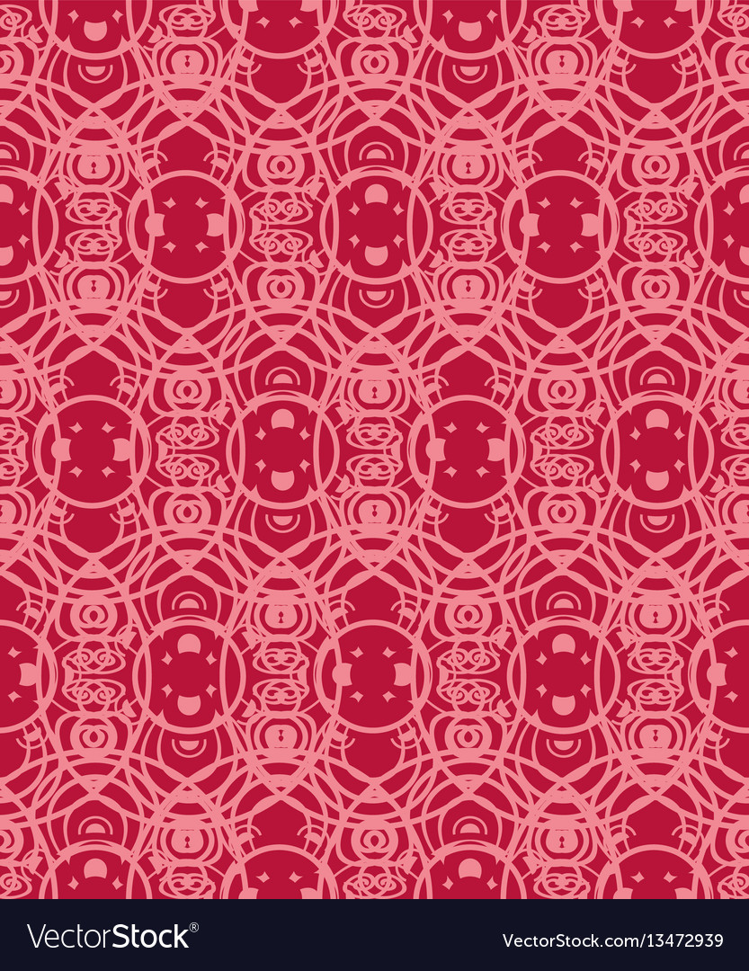 Seamless pattern with geometric ornament round