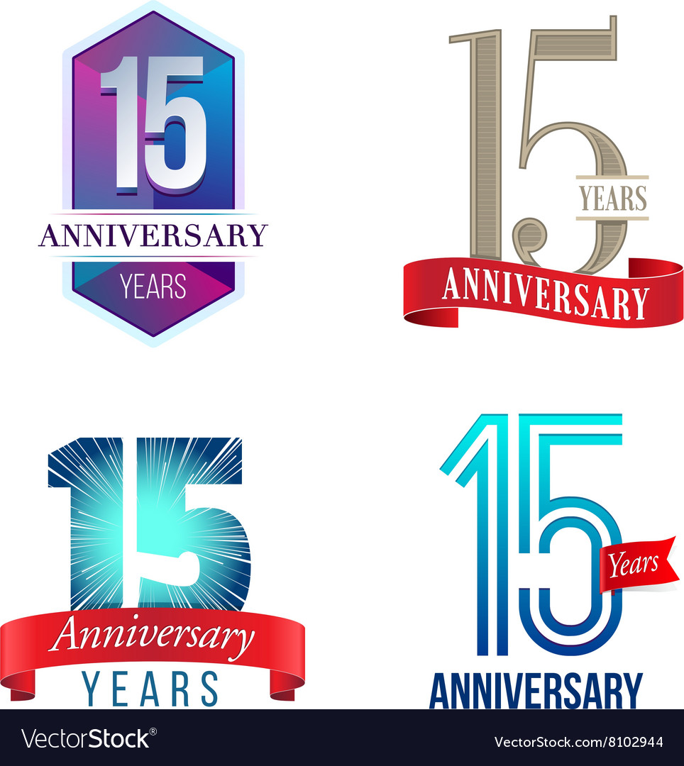 15 Years Anniversary Symbol Royalty Free Vector Image