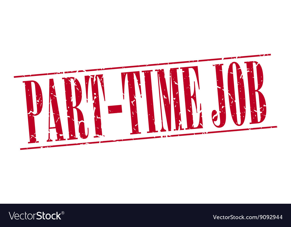 Part-time job red grunge vintage stamp isolated on