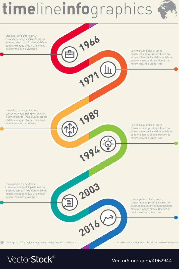 Timeline infographic Business graphic elements