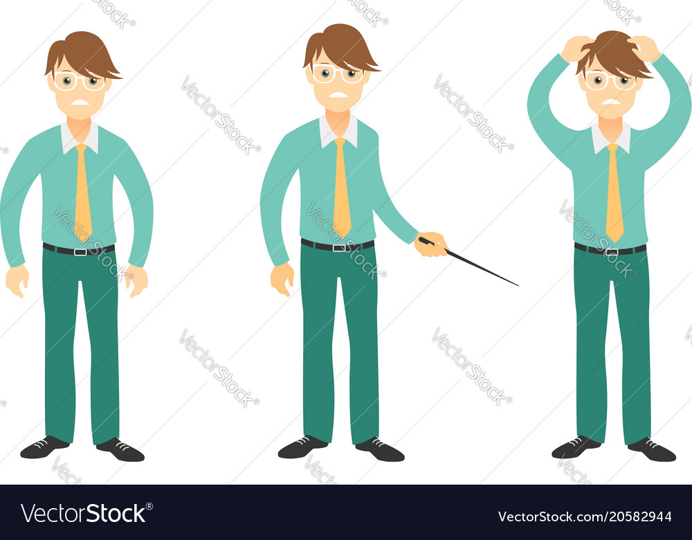 Young businessman disappointed and feels stressed vector image