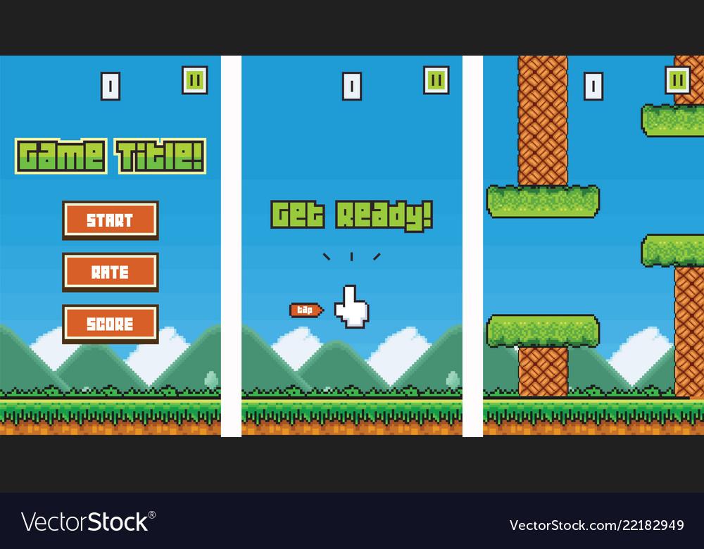 8bit platformer pixel art mobile game assets